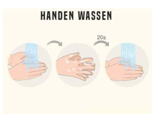 handen wassen instructies
